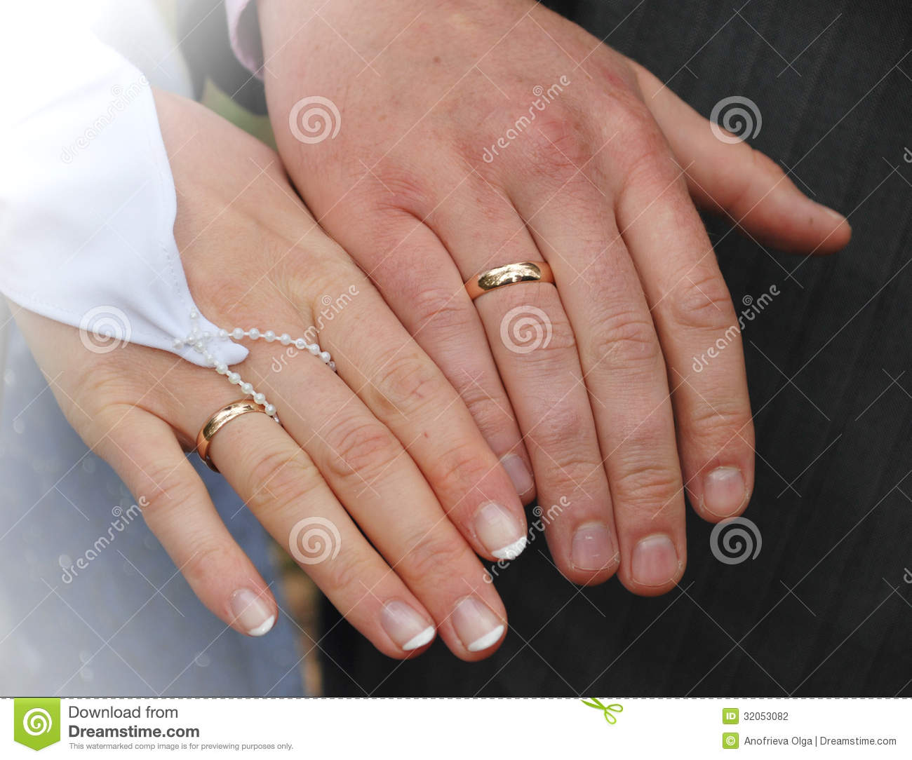 stock photography hands newly married couple wedding rings image couples wedding bands Hands of a newly married couple