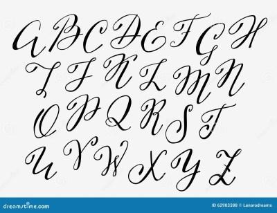 Handwritten Calligraphy Flourish Font Stock Illustration ...