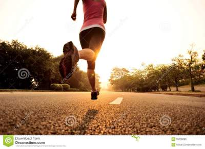 Healthy Lifestyle Fitness Sports Woman Running Stock Image ...