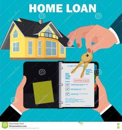 Home Loan Application Concept, Mortgage, Flat Design, Vector Illustration Stock Vector ...