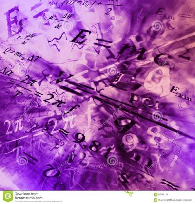Image Of Physical Technology Abstract Background. Science Wallpaper With School Physics Formulas ...