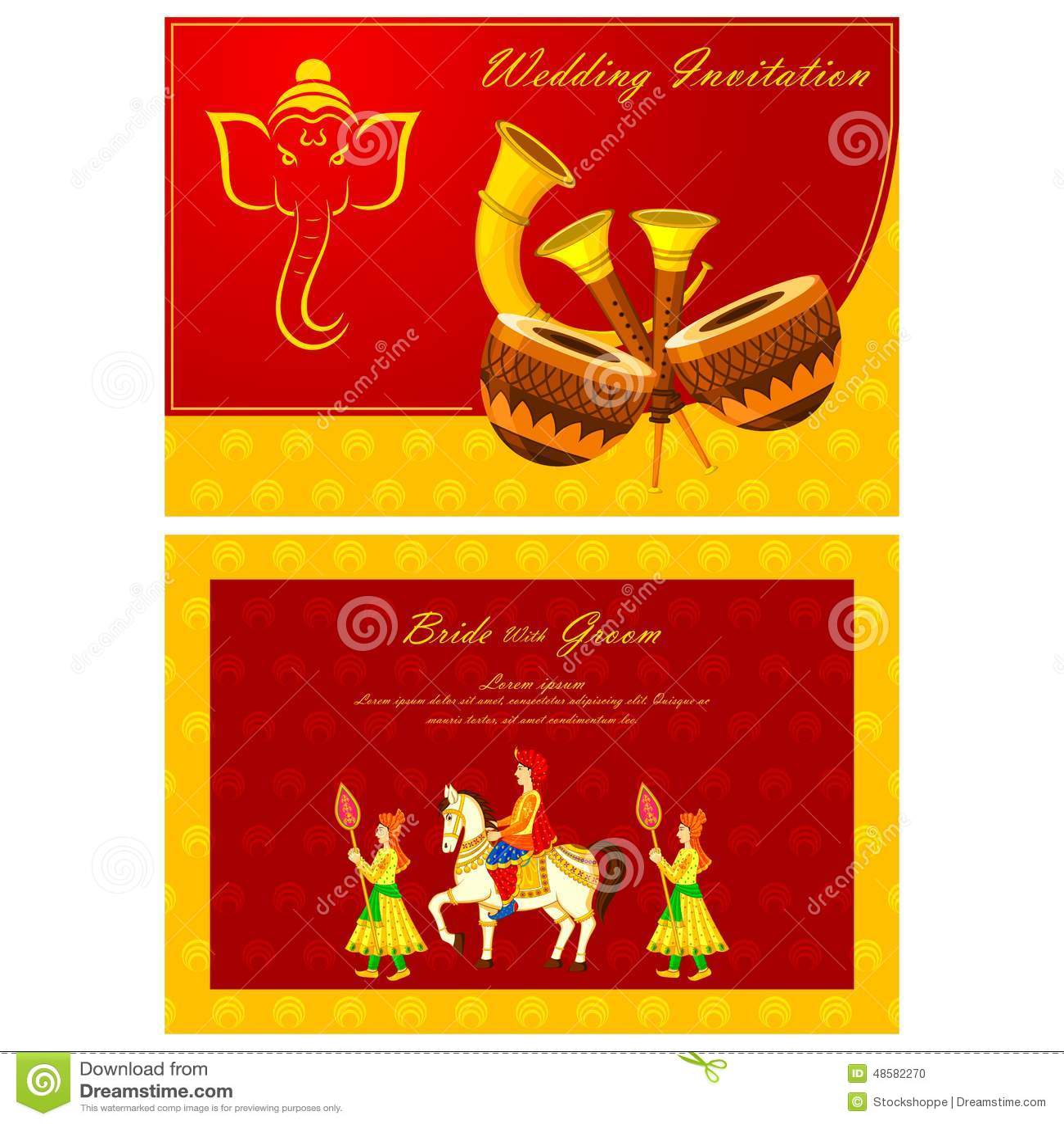 stock illustration indian wedding invitation card vector illustration image indian wedding invitation Indian wedding invitation card