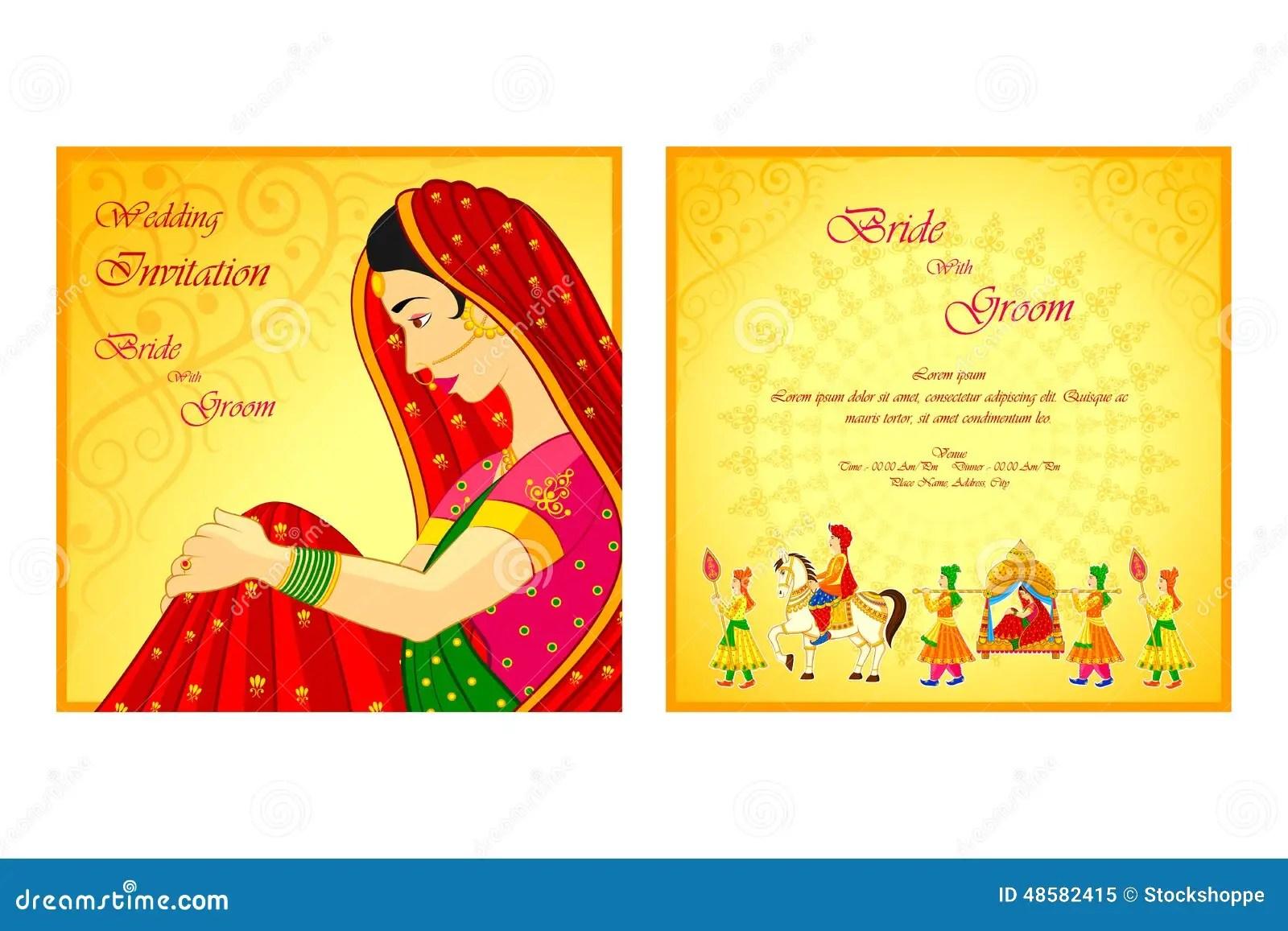 stock illustration indian wedding invitation card vector illustration image indian wedding invitation Indian wedding invitation card Royalty Free Stock Photo