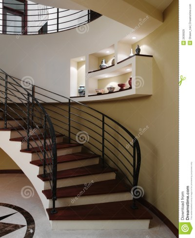 Interior design - stairs stock image. Image of ceiling ...