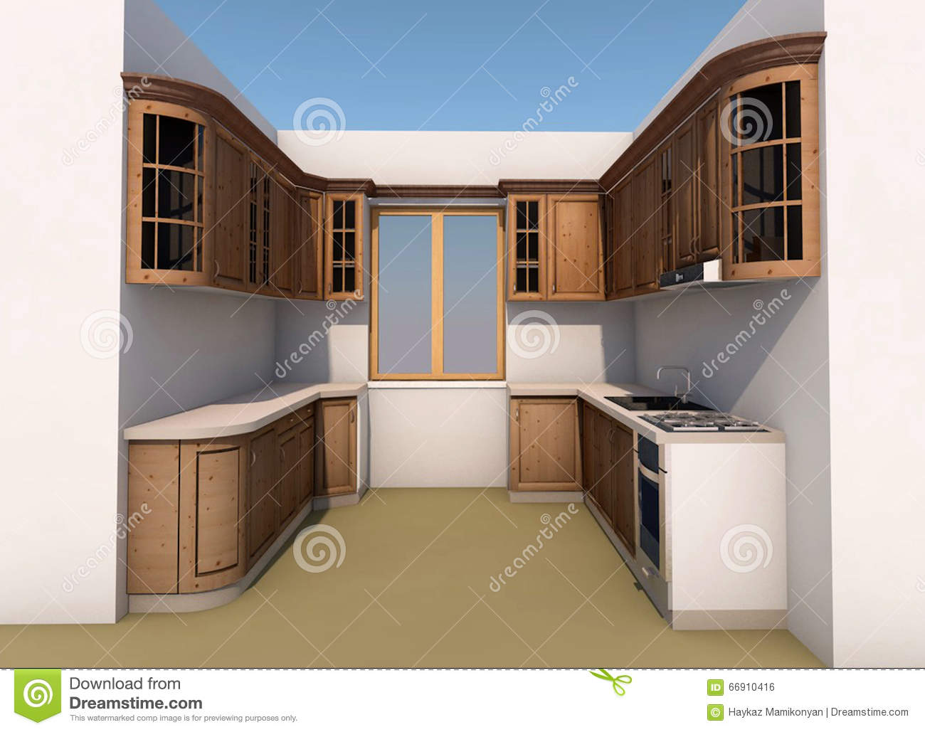 Kitchen design stock illustration  Illustration of interior   66910416 Download comp