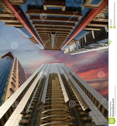Modern Skyscrapers, Sheikh Zayed Road, Dubai, UAE Royalty Free Stock Photography - Image: 35458367