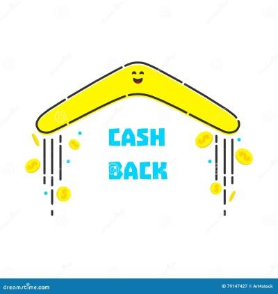 Money cash back stock vector. Illustration of boomerang - 79147427