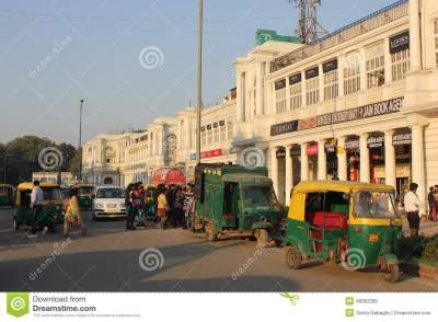 New Delhi City Centre Daily Life Editorial Image - Image ...