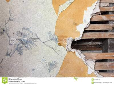 Old Wallpaper Wall stock image. Image of ripped, board - 26795627