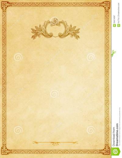 Old Paper Background With Decorative Vintage Border. Stock Illustration - Illustration of border ...