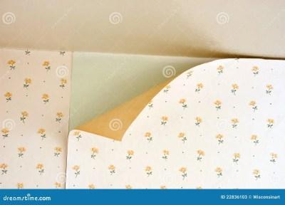 Old Peeling Wallpaper Home Repair Maintenance Stock Photos - Image: 22836103