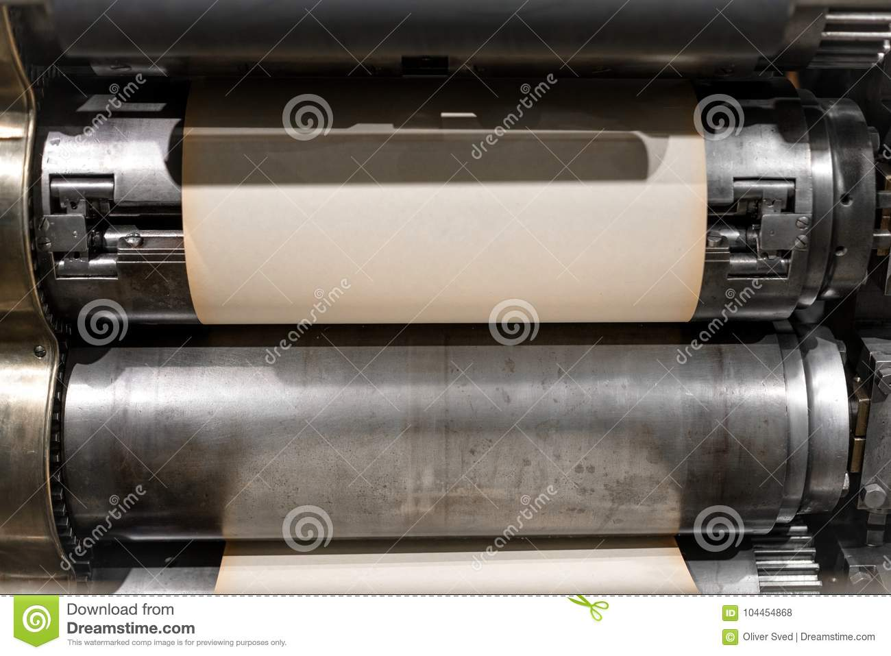 Old Press Printing Machine Closeup Stock Photo   Image of printery     Download Old Press Printing Machine Closeup Stock Photo   Image of  printery  brochure  104454868