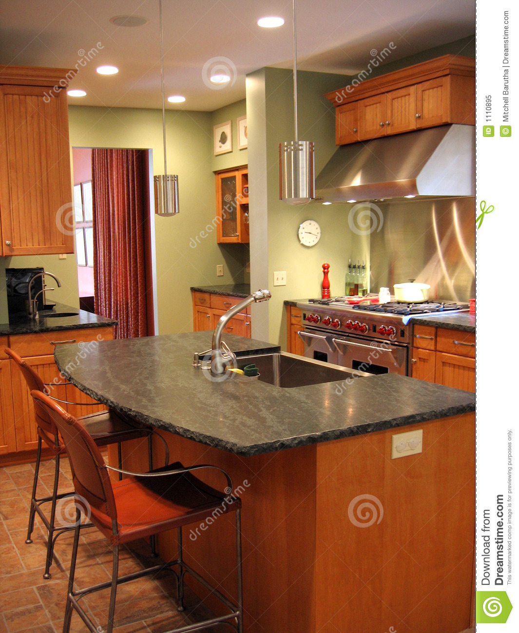 royalty free stock photo remodeled kitchen image remodeled kitchen Remodeled kitchen
