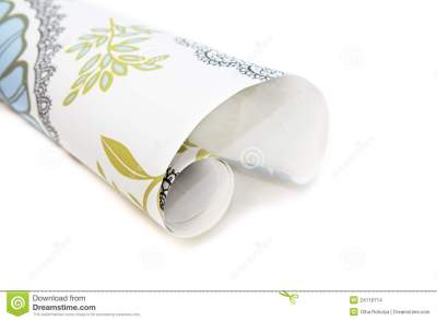Roll Of Wallpaper Stock Images - Image: 24116714