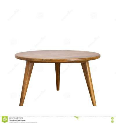 Wooden Round Table Isolated Illustration Cartoon Vector | CartoonDealer.com #33711805