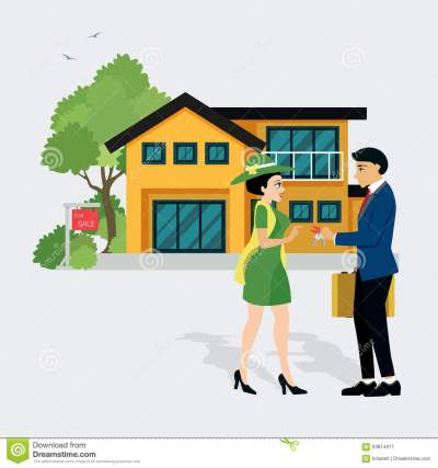 Sell House Stock Vector - Image: 63814971