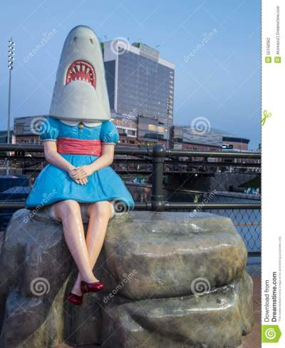 Shark Girl Buffalo Canalside Editorial Photography - Image of city, tourism: 55158362