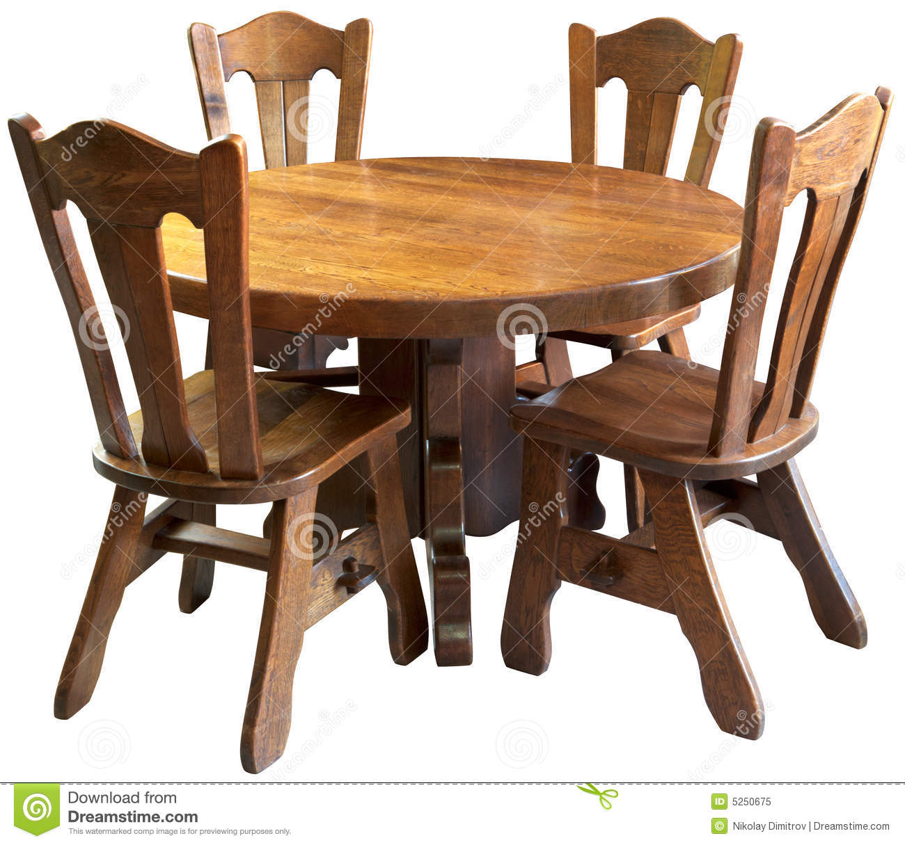 royalty free stock photo solid wood kitchen table set isolated image kitchen table and chairs Solid wood kitchen table set isolated