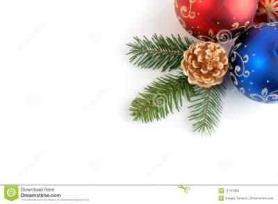 Still Life Of Christmas/New Year Decorations Stock Photo ...