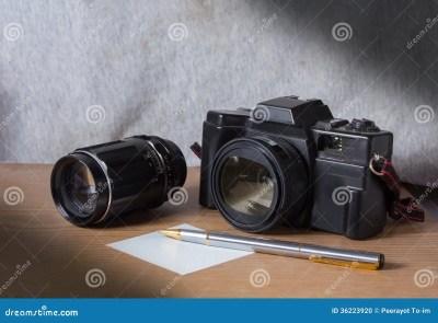 Still life film camera. stock photo. Image of retro, hobby ...