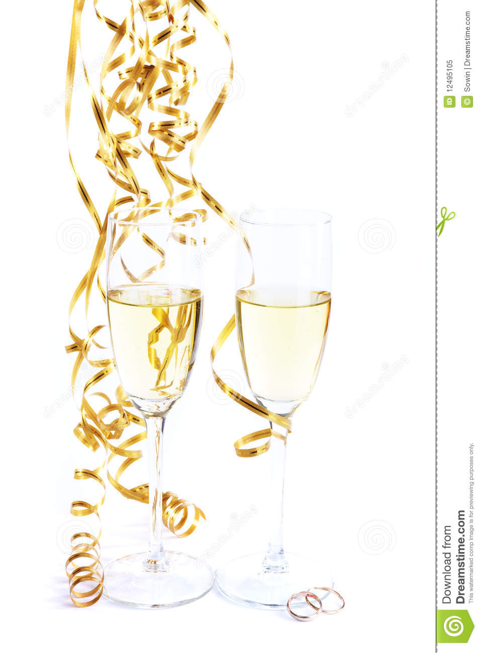 royalty free stock photo two wine glasses wedding rings image wedding wine glasses Two wine glasses and wedding rings