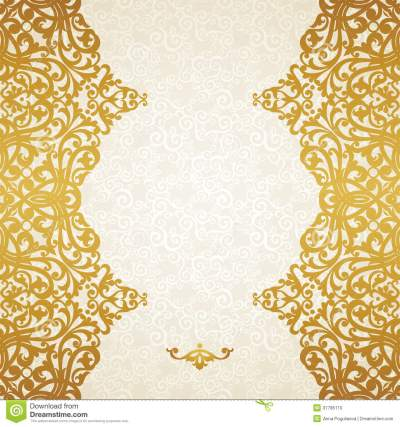 Vector Seamless Border In Victorian Style. Stock Photo - Image: 37785110