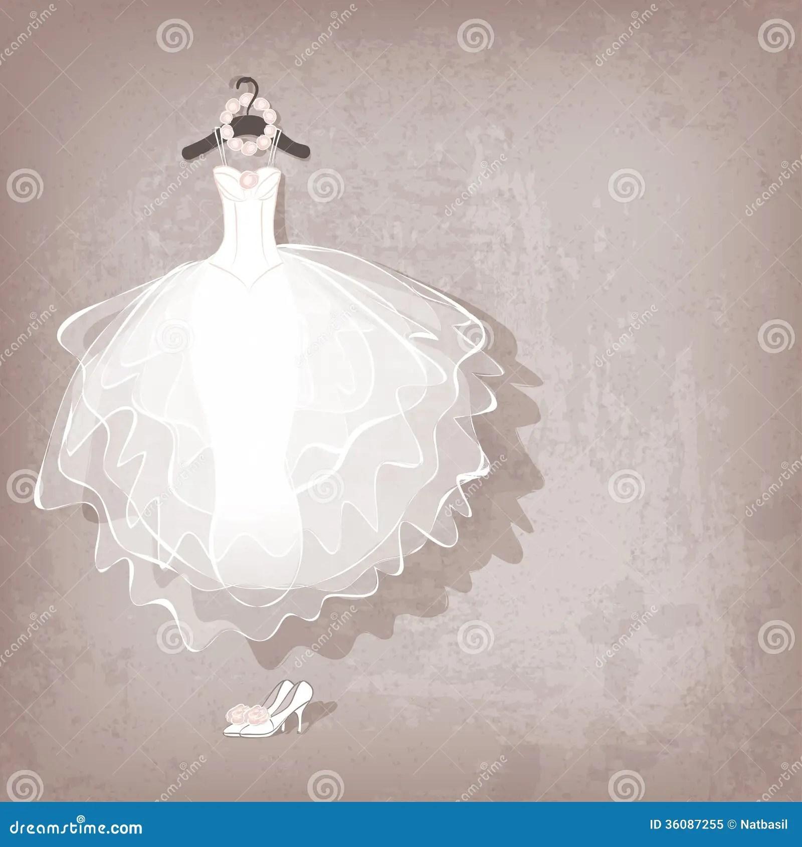 royalty free stock image wedding dress image free wedding dresses Wedding dress on grungy background Royalty Free Stock Photo