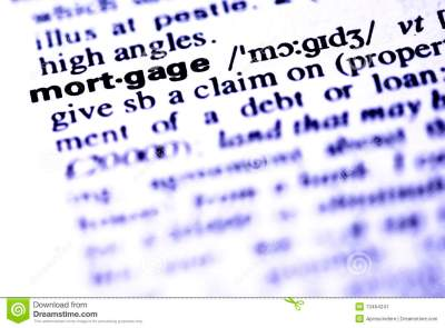 Mortgage Definition Magnifier Showing Property Or Real Estate Lo Royalty-Free Stock Photography ...