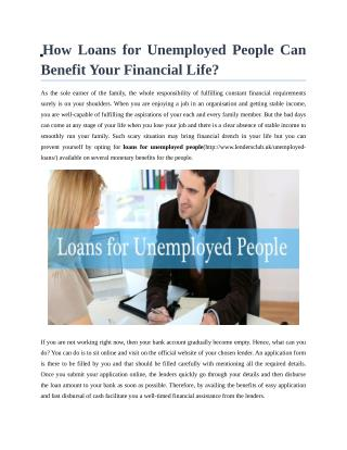 PPT - same day loans for unemployed@unemployedeasyloans.co.uk PowerPoint Presentation - ID:4610743