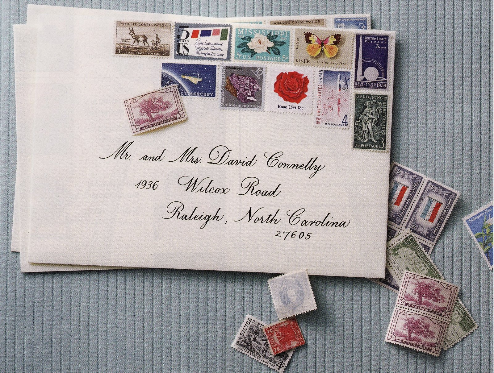 vintage stamps basics how to find and use them stamps for wedding invitations Image
