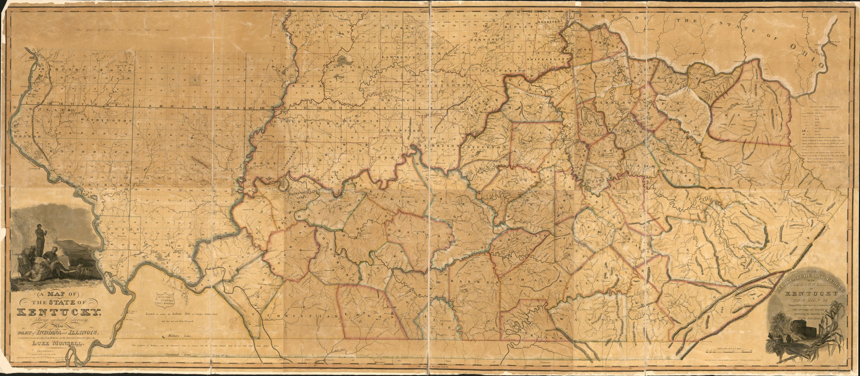 A map of the State of Kentucky   from actual survey   also part of     A map of the State of Kentucky   from actual survey   also part of Indiana  and Illinois   Library of Congress