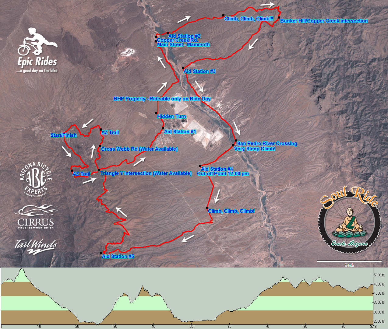 TopoFusion com   Event Mapping 2005 50k Sole Ride map  JPG   PDF