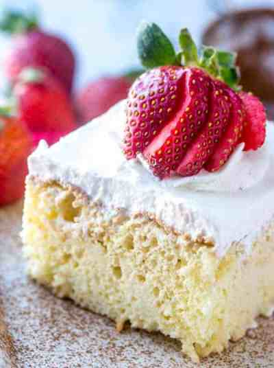 Tres Leches Cake {A Delicious 3 Milk Poke and Pour Cake}