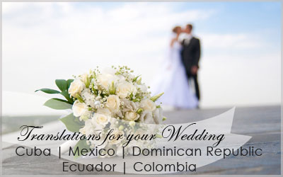 Destination Wedding Translations - Toronto - CUBA ...