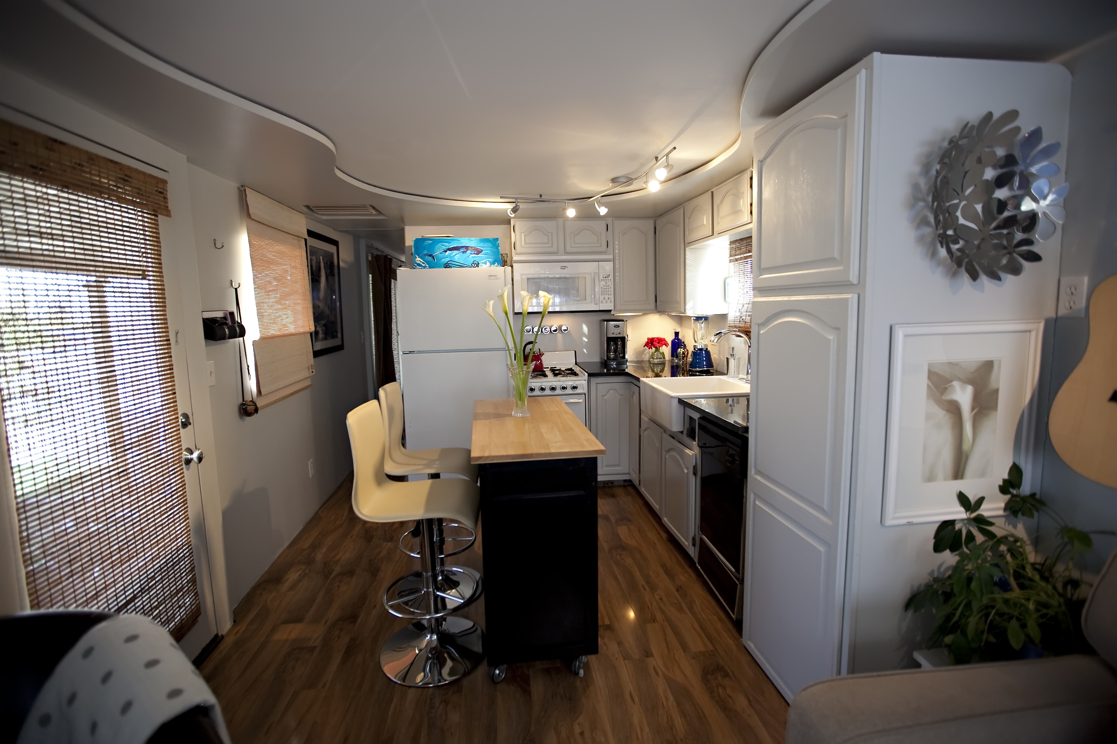 total trailer chic remodel mobile home kitchen remodel Kitchen Demo