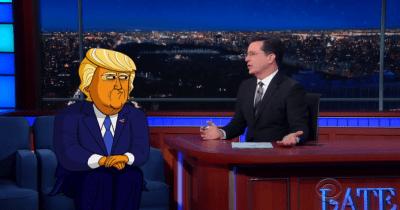 A Cartoon Trump Visits Stephen Colbert To Talk Politics: Hilarious - The Ring of Fire Network