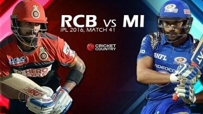 Cricket: Scorecard of IPL 9 – Match #41 – Royal Challengers Bangalore Vs Mumbai Indians on May ...