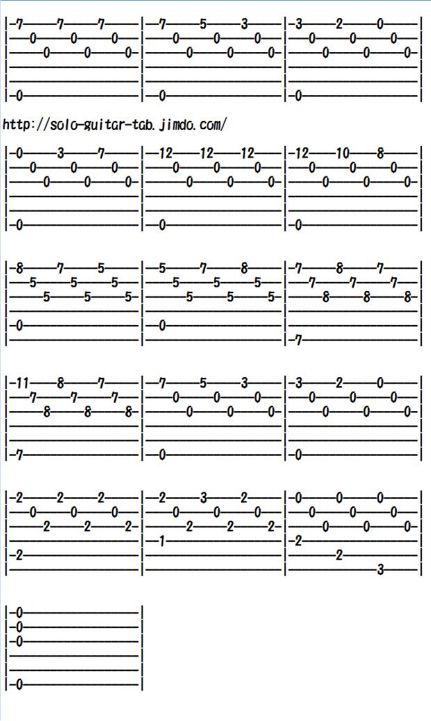 Classical Guitar Tabs (Arrangements/Traditional) - Classical/Traditional music for guitars