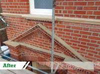 Brick repointing and brick restoration for residential customer in Ealing completed by UK Performance Restoration, London UK.