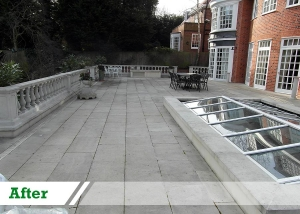 Doff stone cleaning job completed by UK Performance Restoration.