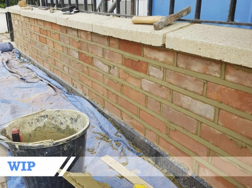 Brick pointing for residential customer in London