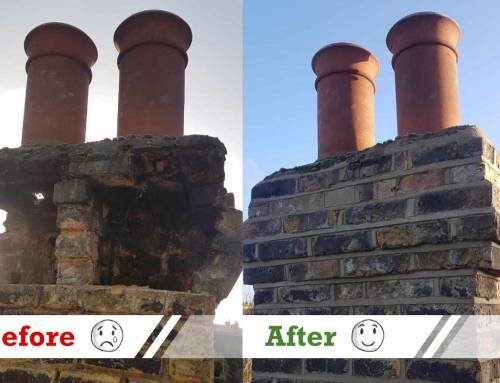 Making good of a chimney stack that was falling apart