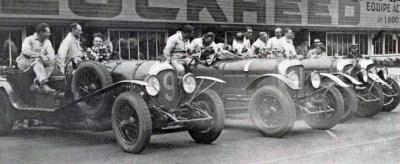 File:Les 4 Bentley en tête des essais de le Coupe Rudge-Withworth 1929 (les 24 heures du Mans ...