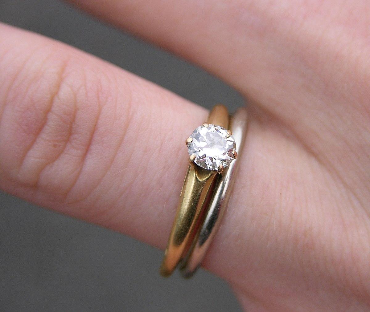 Engagement ring wedding ring diamond