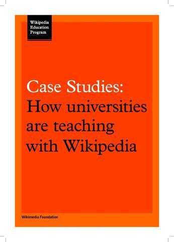 File:Wikipedia Education Program Case Studies (WMUK version).pdf - Outreach Wiki