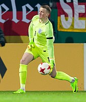 Jordan Pickford   Wikipedia Pickford playing for England U21 in 2017
