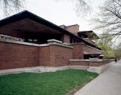 File:Robie House, created by architect Frank Lloyd Wright in the Hyde Park neighborhood, Chicago ...