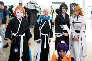 Bleach  manga    Wikipedia Fans dressed as characters from Bleach  pictured in 2014