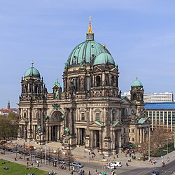 Berlin   Wikipedia The Berlin Cathedral  a United Protestant church held by the Evangelical  Church of Berlin Brandenburg Silesian Upper Lusatia