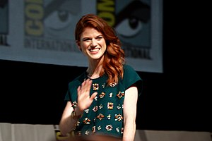 Rose Leslie   Wikipedia Leslie in 2013 for Game of Thrones Comic Con panel